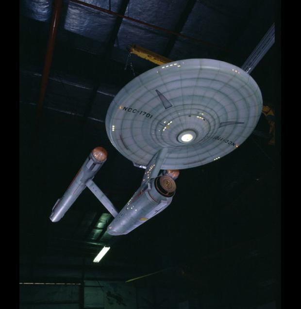 Original Starship Enterprise Model at Air and Space Museum