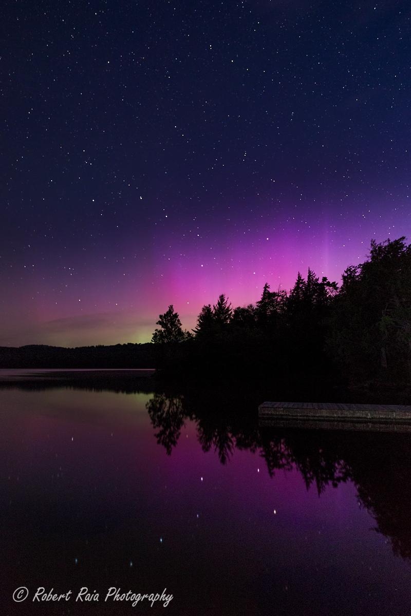 Aurora Borealis Seen in the Adirondacks