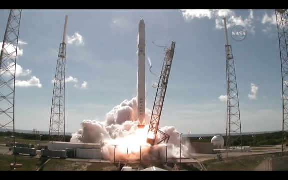 SpaceX's Falcon 9 rocket and Dragon cargo spacecraft lifted off from Cape Canaveral Air Force Station on June 28, headed to the International Space Station. The rocket and capsule exploded shortly after liftoff.