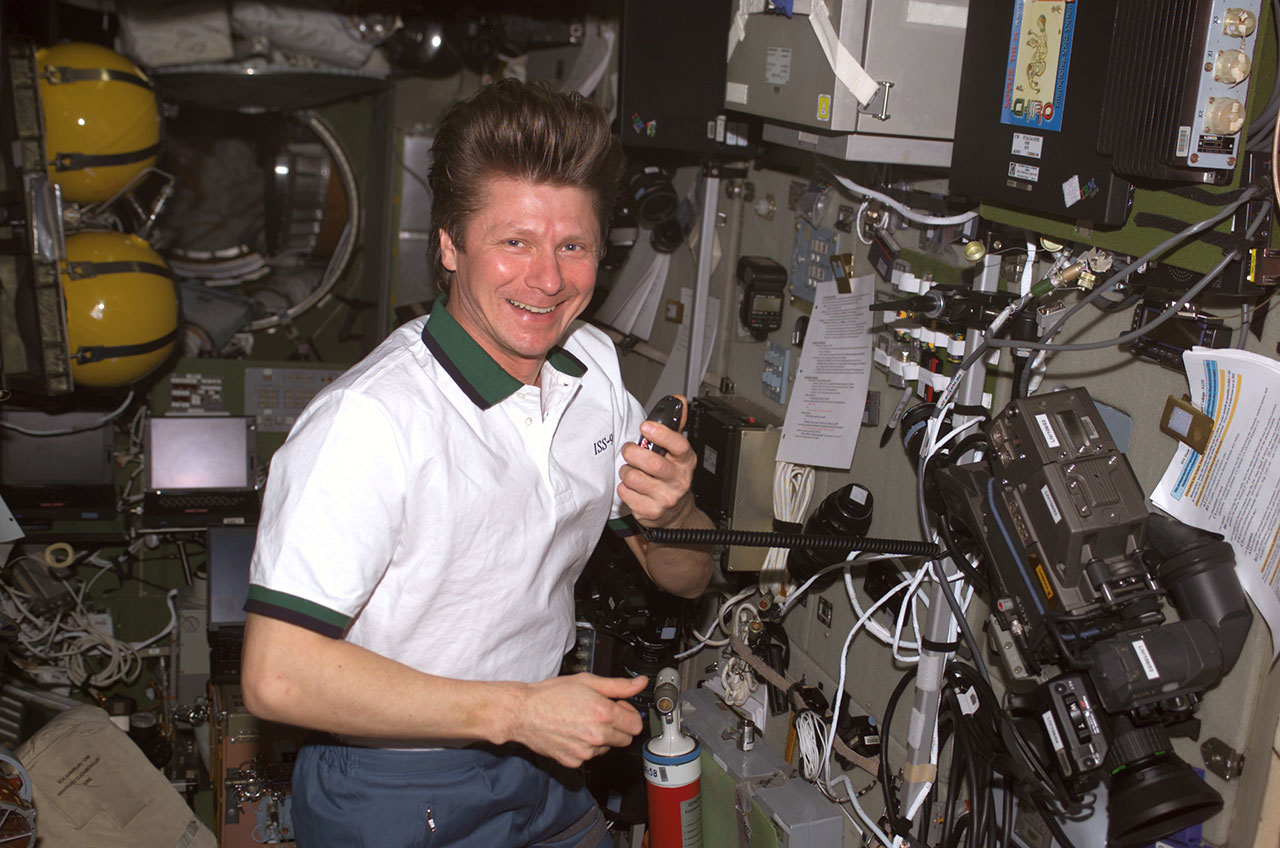 Cosmonaut Gennady Padalka Aboard International Space Station