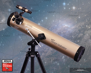 "With a classic Newtonian optical design and seven magnification options, Geosafari's Omega will empower your older kid to ""get out there among the stars."""