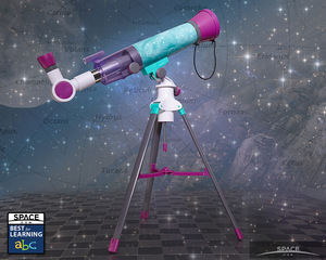 Creator Nancy Balter wants kids - especially girls - to shoot for the stars while studying the Moon. This 20mm telescope comes with a astronomer's journal-style activity book.