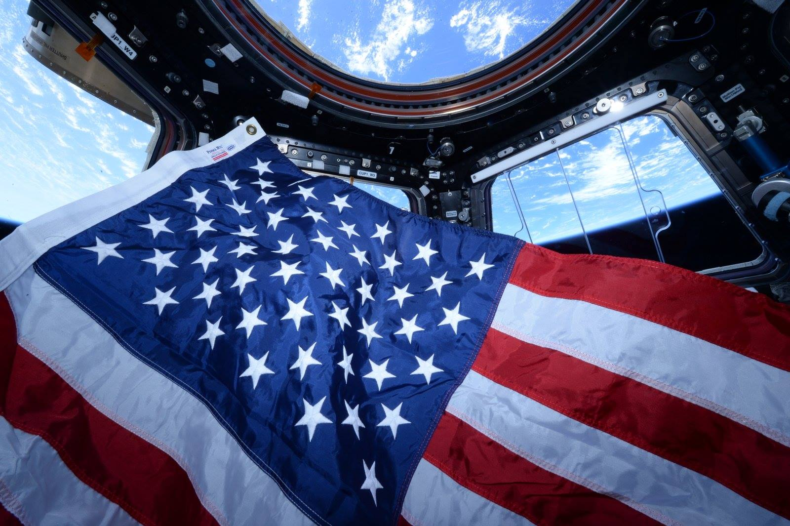 American Flag on the International Space Station