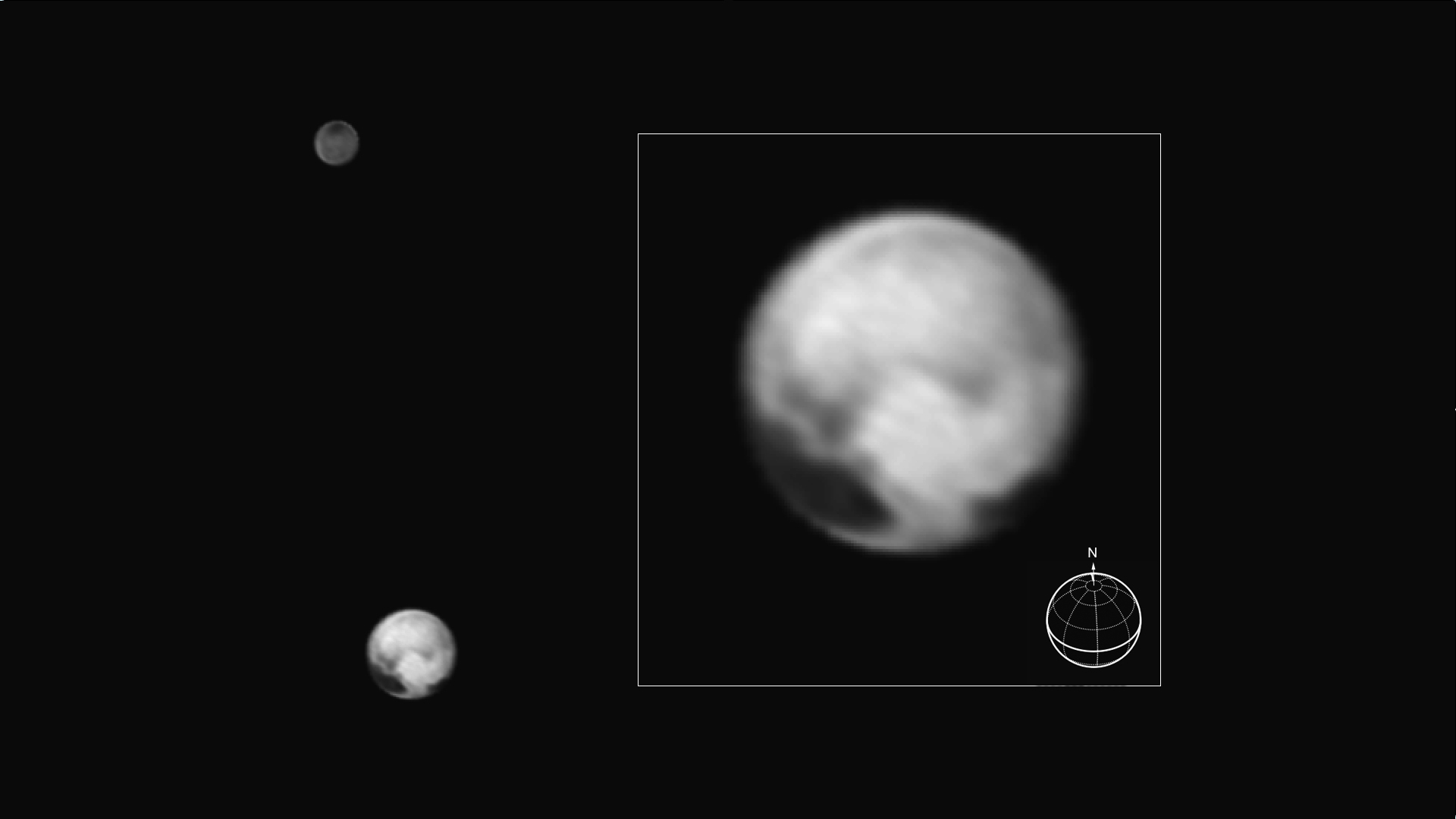Surface Features Emerging on Pluto