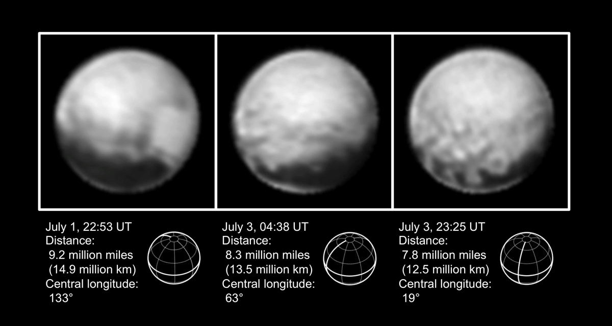 High-Resolution Views of Pluto by NASA's New Horizons