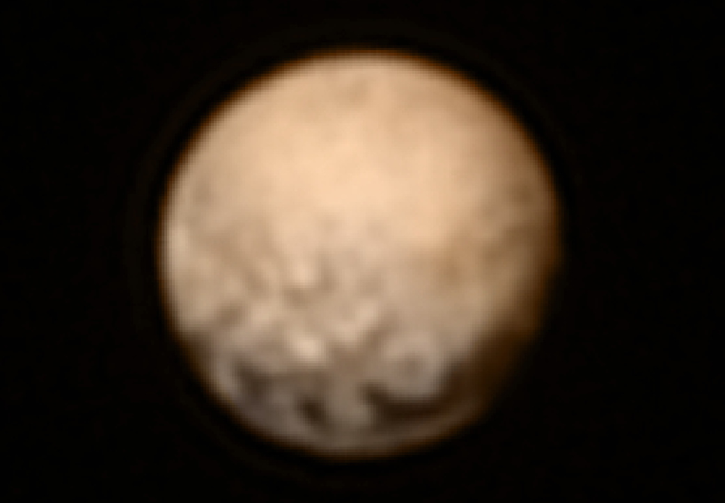 Color Image of Pluto by New Horizons