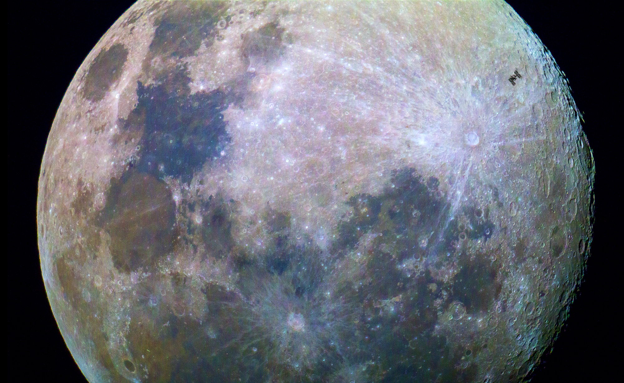 ISS Passes Moon