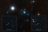 This image shows the region around the well-studied Hyades star cluster, the nearest open cluster to Earth.