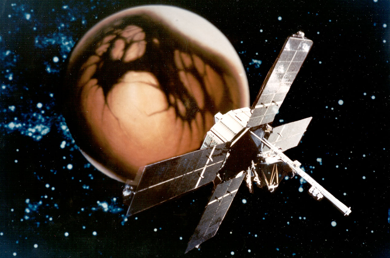Mariner 4 spacecraft poster, 1964 mission