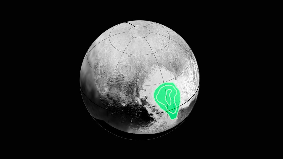 Frozen Carbon Monoxide on Pluto