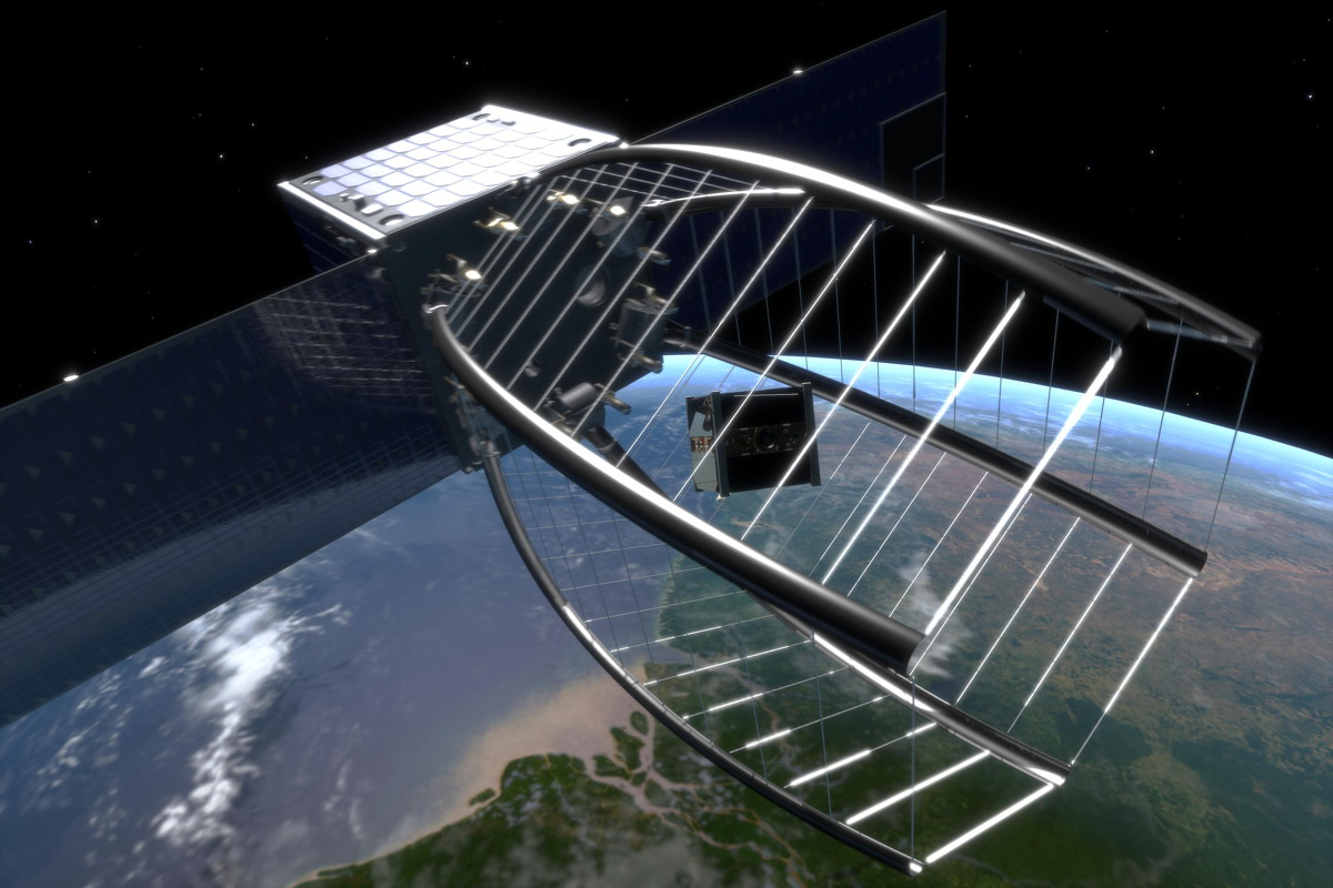 Space Debris 'Pac-Man' Solution