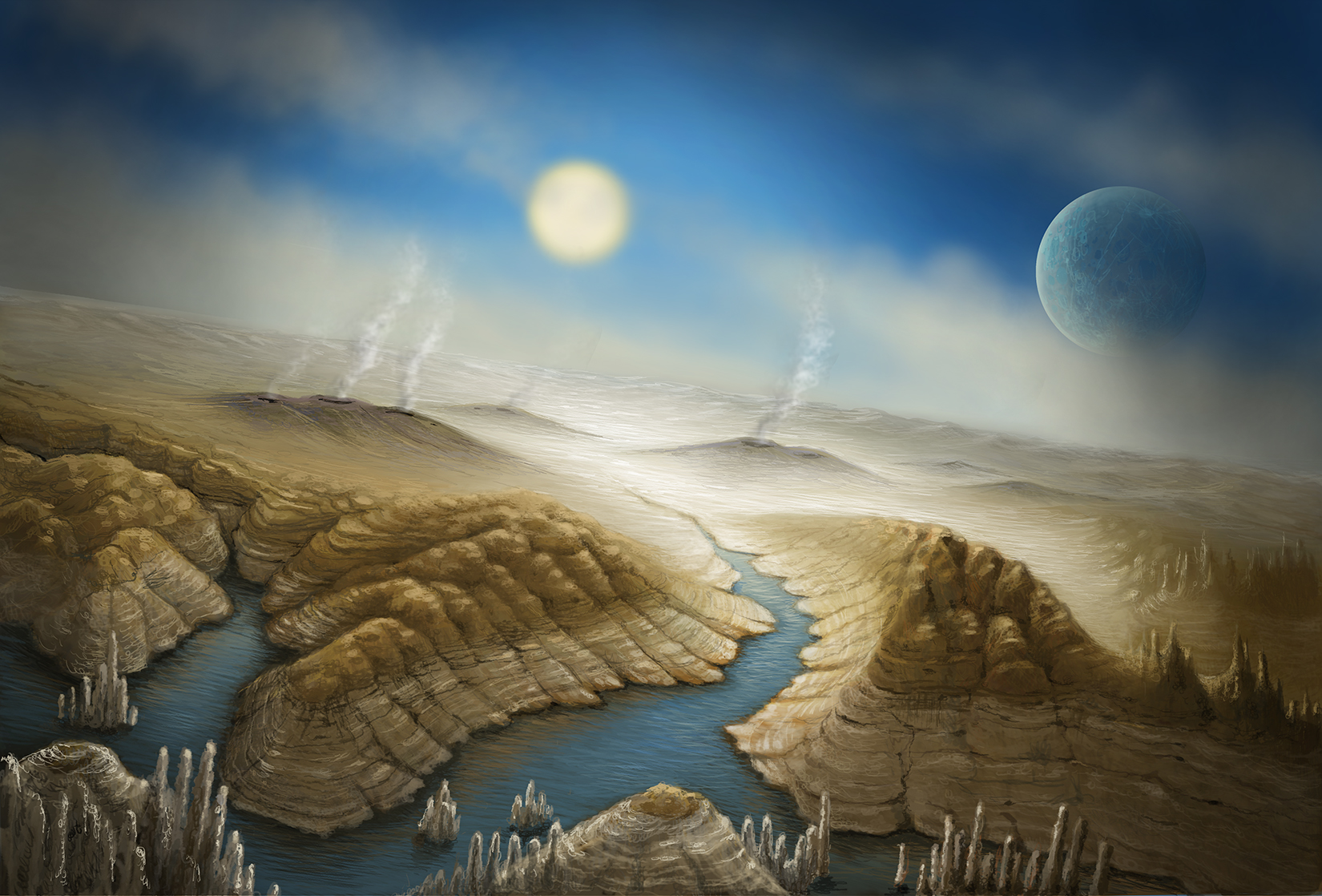 Surface of Kepler-452b, an Earth Cousin