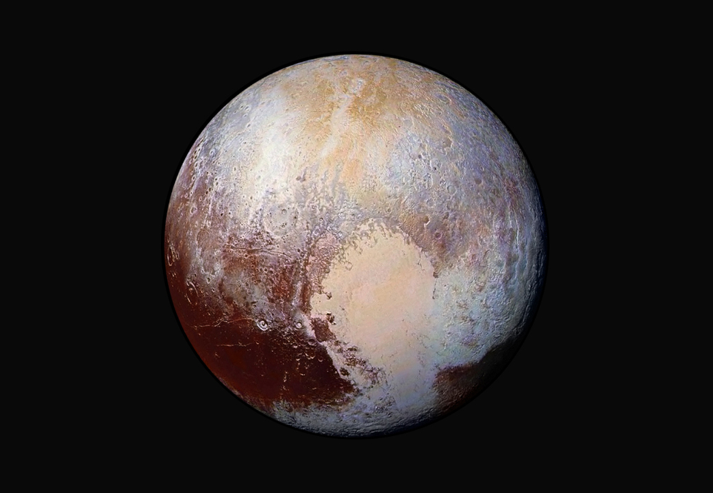 Pluto's Heart in False Color