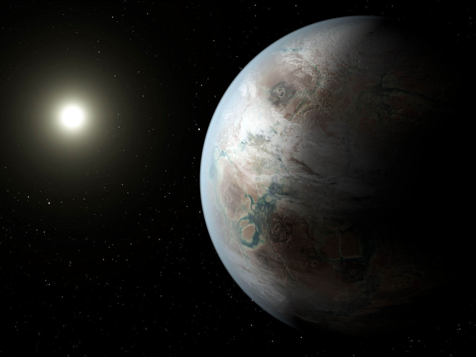 Earth-Like Exoplanet Kepler-452b | Space Wallpaper