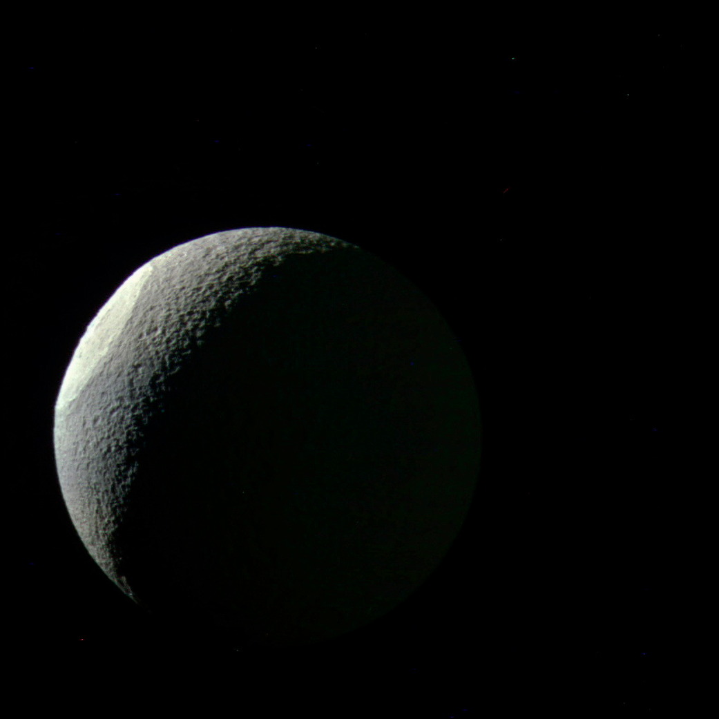 Bright Basin on Saturn's Moon Tethys