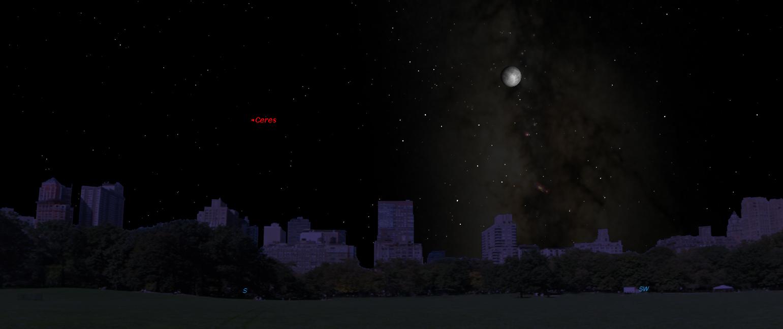 dwarf planets at night - photo #26