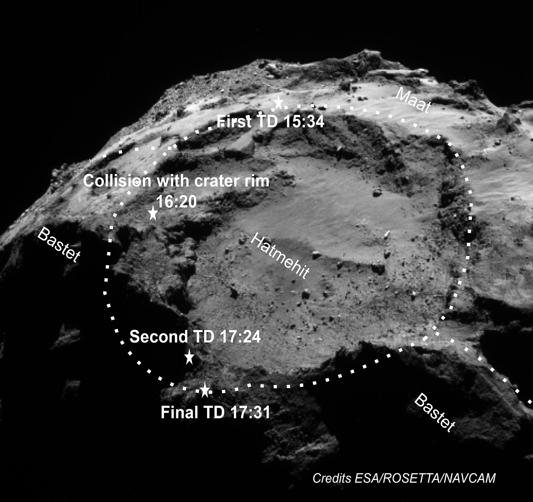 rosetta asteroid landing ocean - photo #18