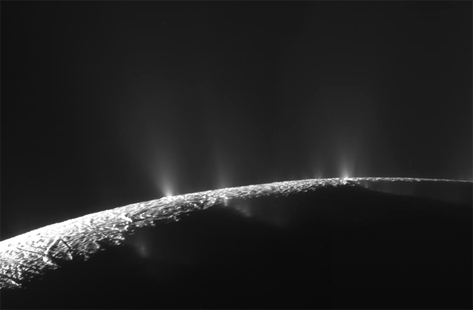 Plumes of Enceladus