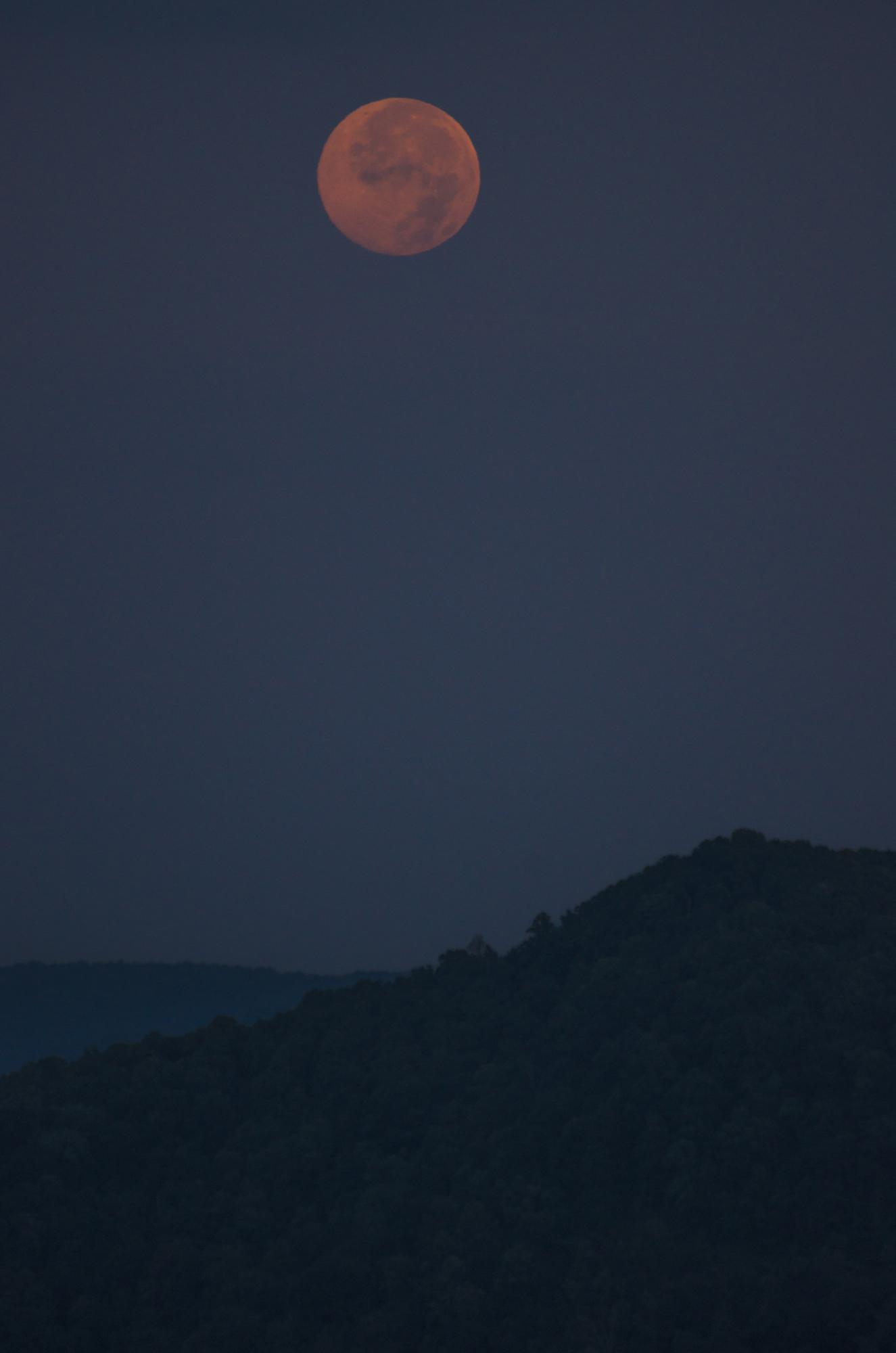Blue Moon Over Table Rock Mountain, SC