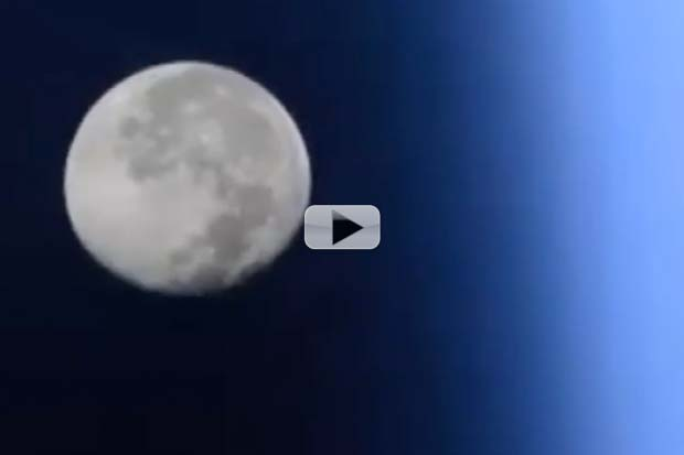 What A Blue Moon Looks Like In Space | Time-Lapse Video