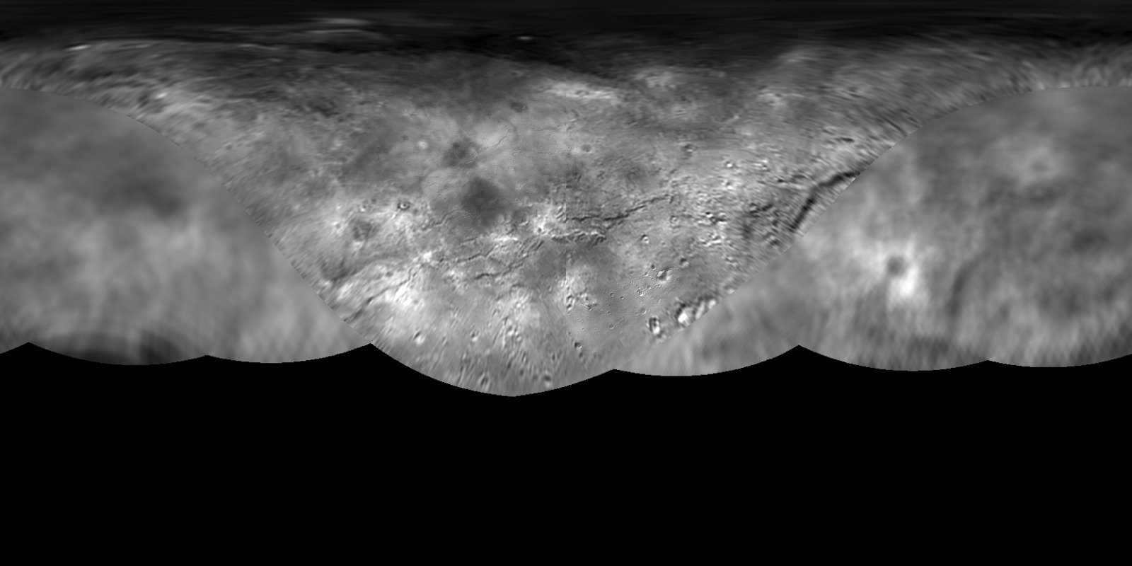 Pluto's Moon Charon Global Map