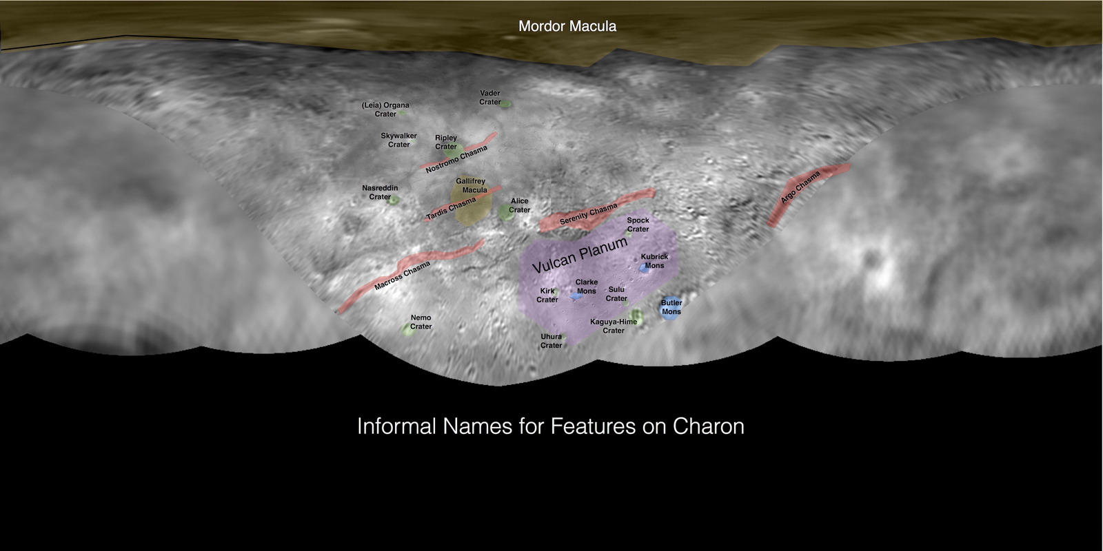 Informal Names for Features on Pluto's Moon Charon