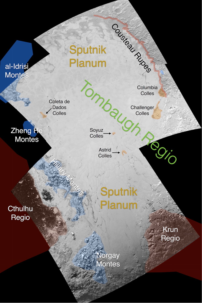 Informal Names for Features on Pluto's Sputnik Planum