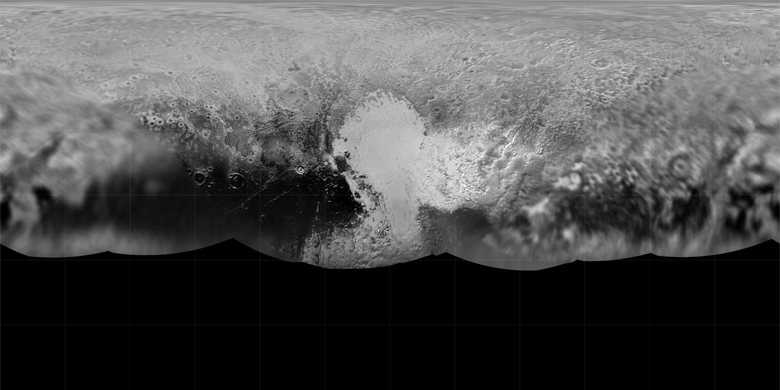 Global Map of Pluto (With Grid)