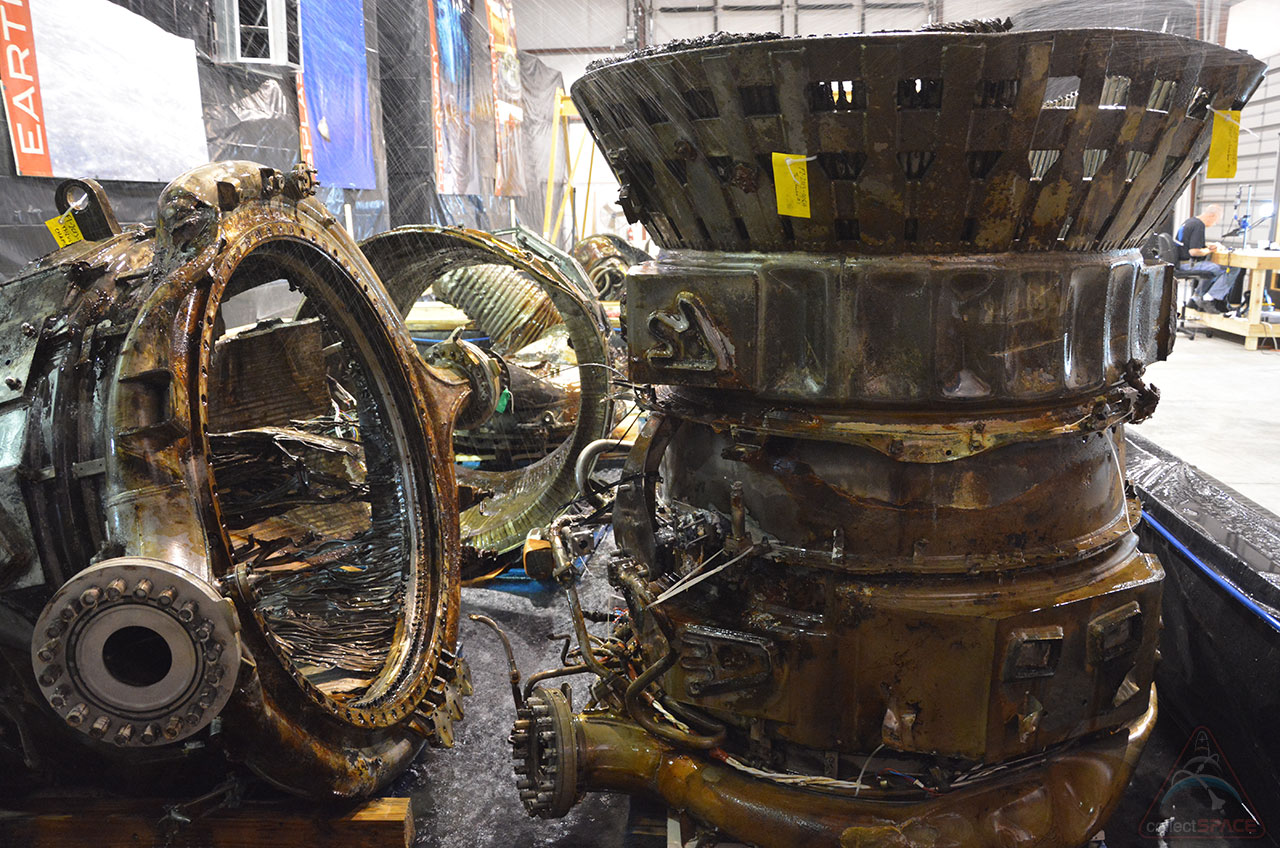 Apollo F-1 Engine Parts Recovered