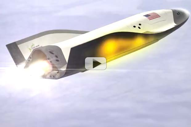 New Space Plane Powered By Ground-Based Microwave Antennas | Animation