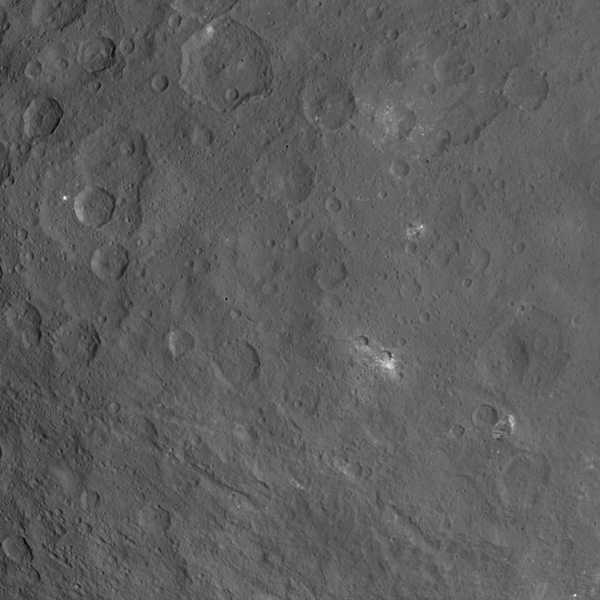 Bright Spots and Pyramid Mountain on Ceres