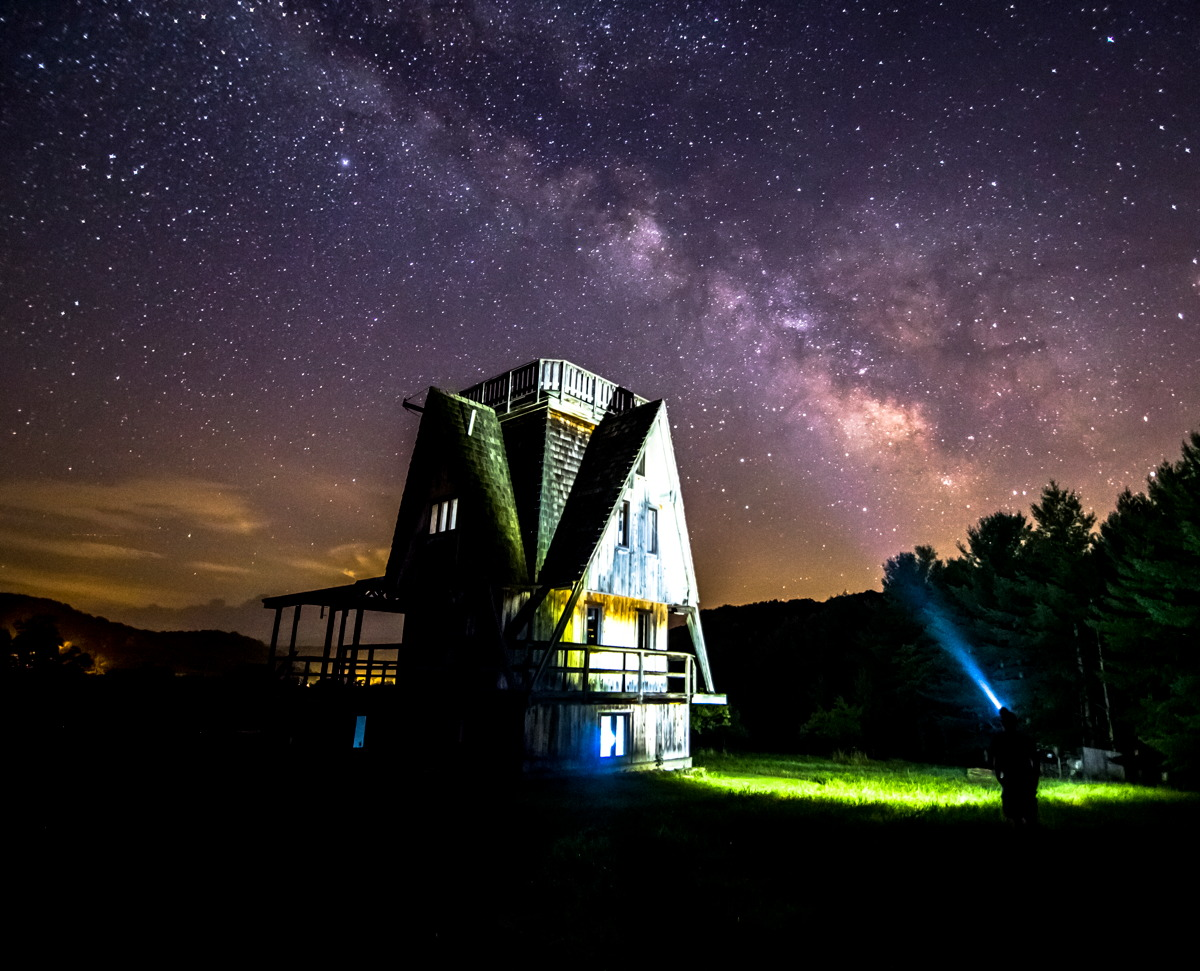 'Haunted House' with Milky Way