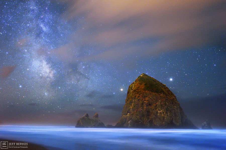 Wow! Ocean Glows an Ethereal Blue Under Milky Way's Starlight (Photo)