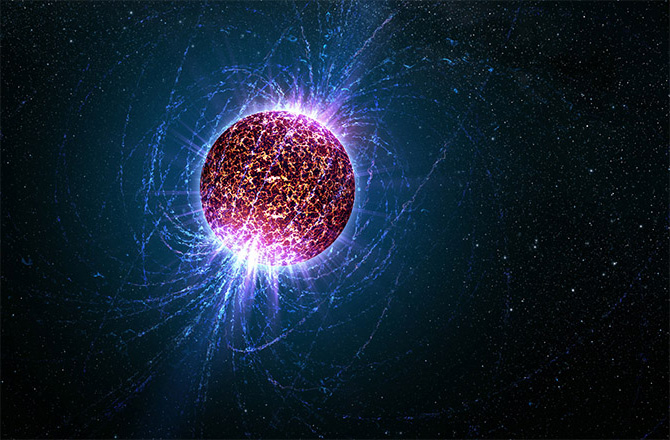 Artist's Impression of a Pulsar