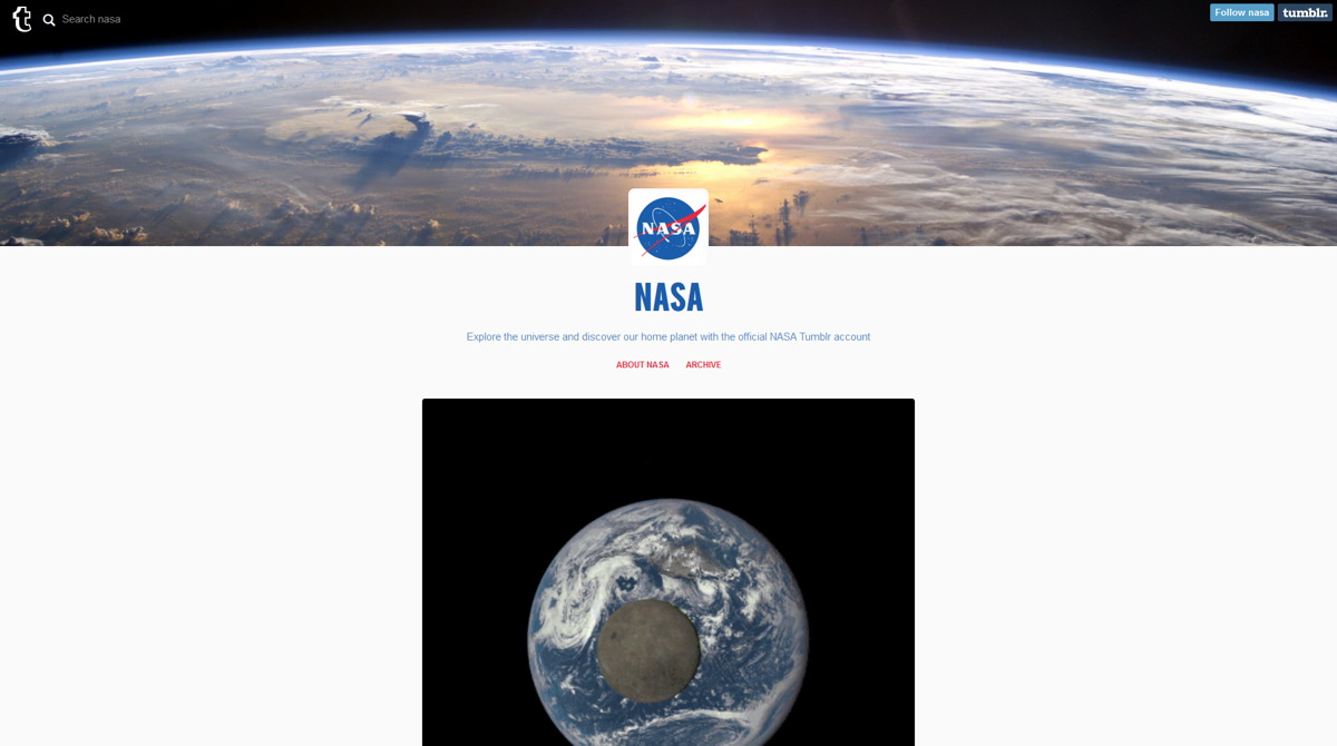 NASA Joins Tumblr to Explore the Social Media Frontier
