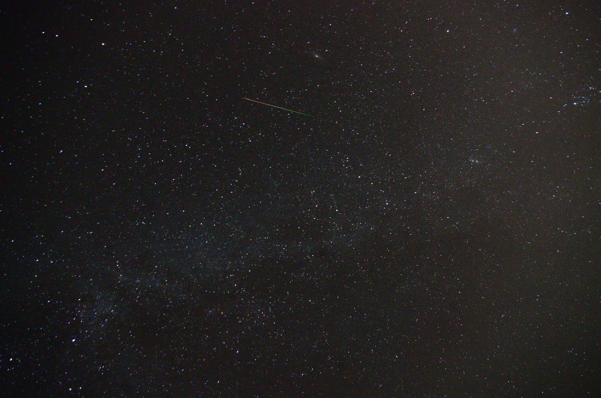 Perseid Meteor Shower Over High Point, NJ
