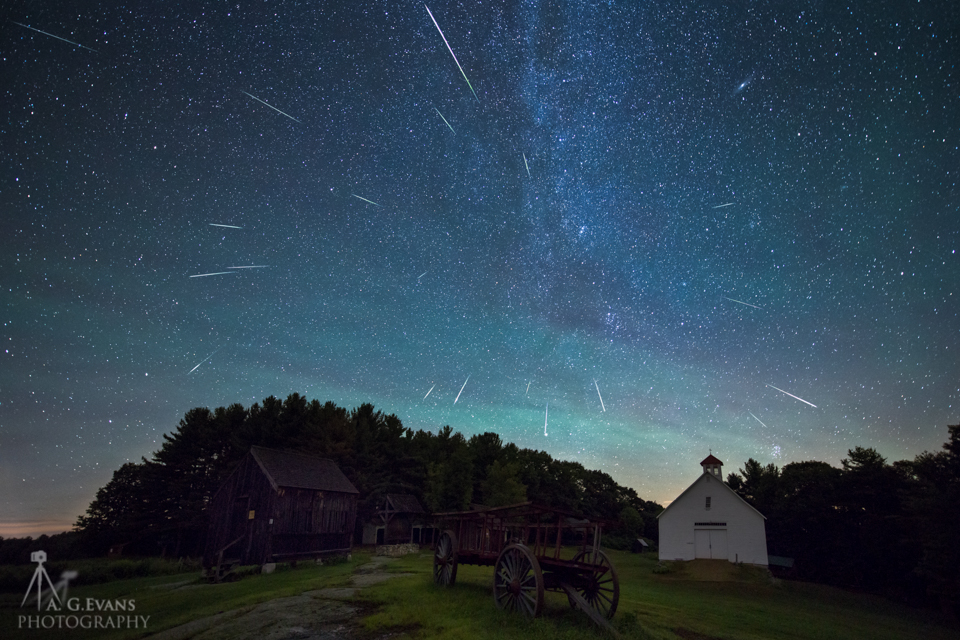 2015 Perseid Meteors Over New Hampshire
