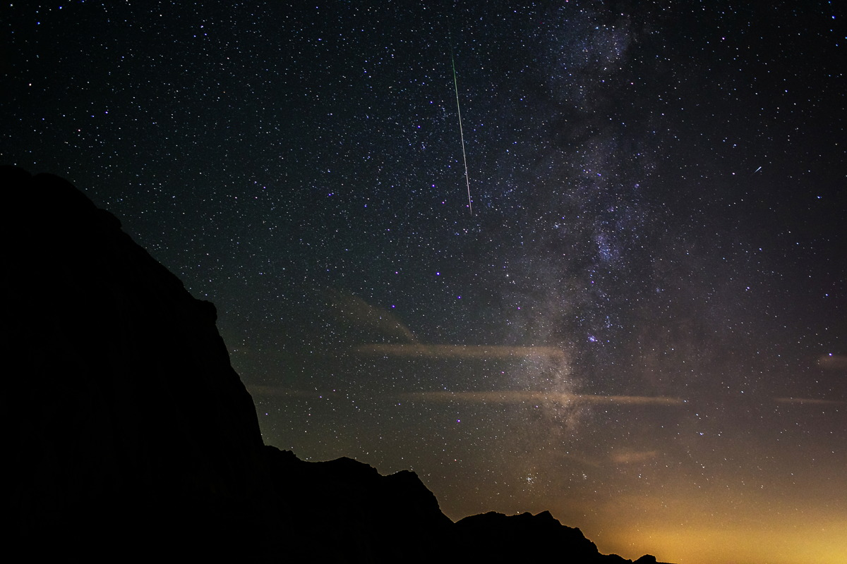 2015 Perseid Meteors Near Las Vegas