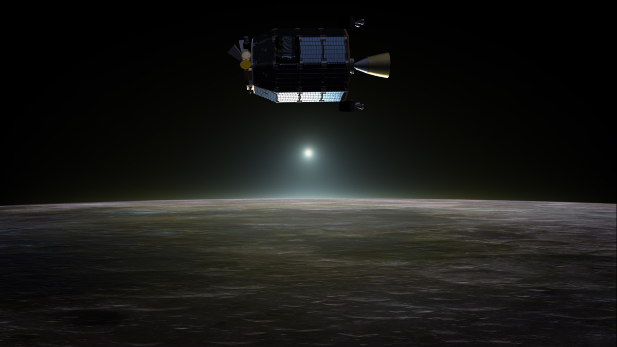 LADEE Orbiting the Moon