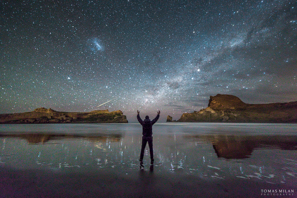 Castlepoint Meteor Shower by Milan