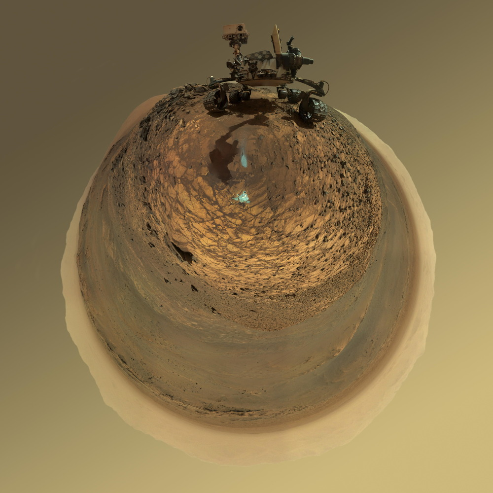 Curiosity Mars Rover Stereographic Projection