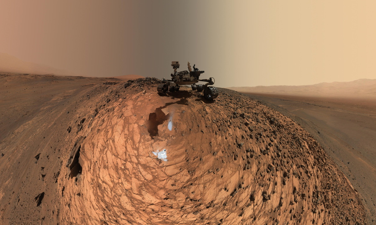 Curiosity Mars Rover Low-Angle Self-Portrait