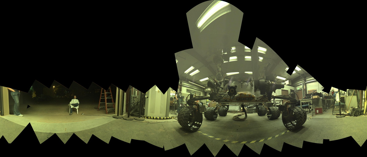 Test Rover Practices Taking Self-Portrait