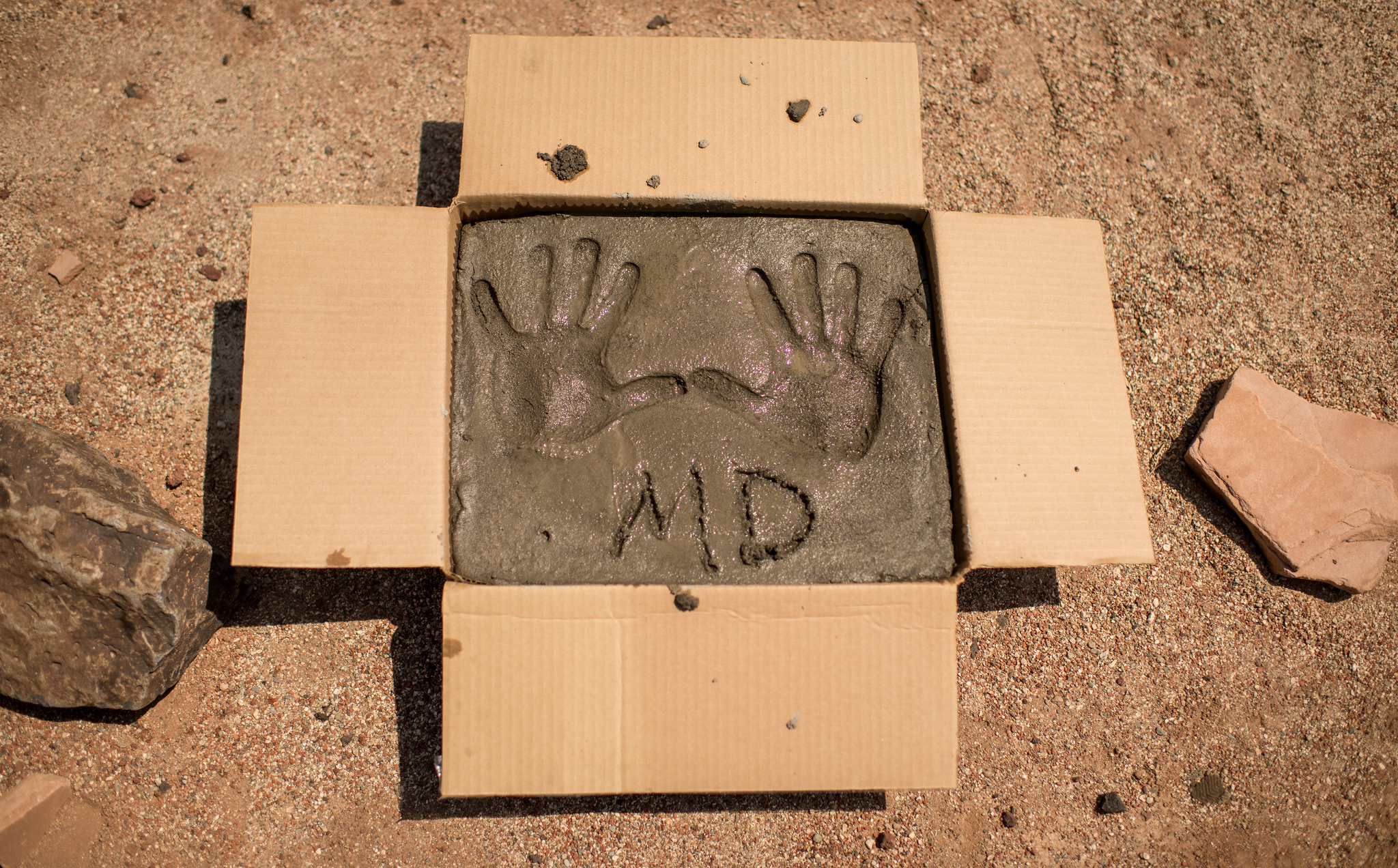 The Hand Prints of Actor Matt Damon
