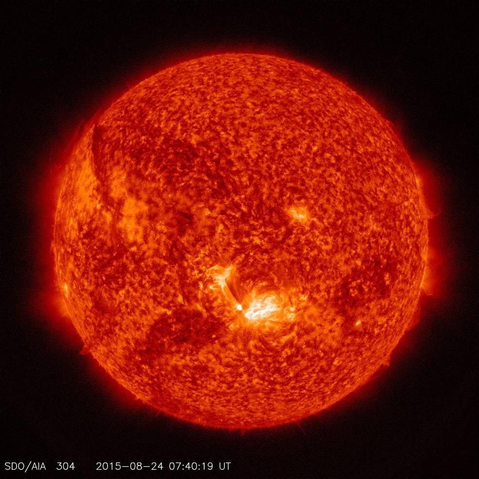 SDO Photo of Solar Flare, Aug. 24, 2015