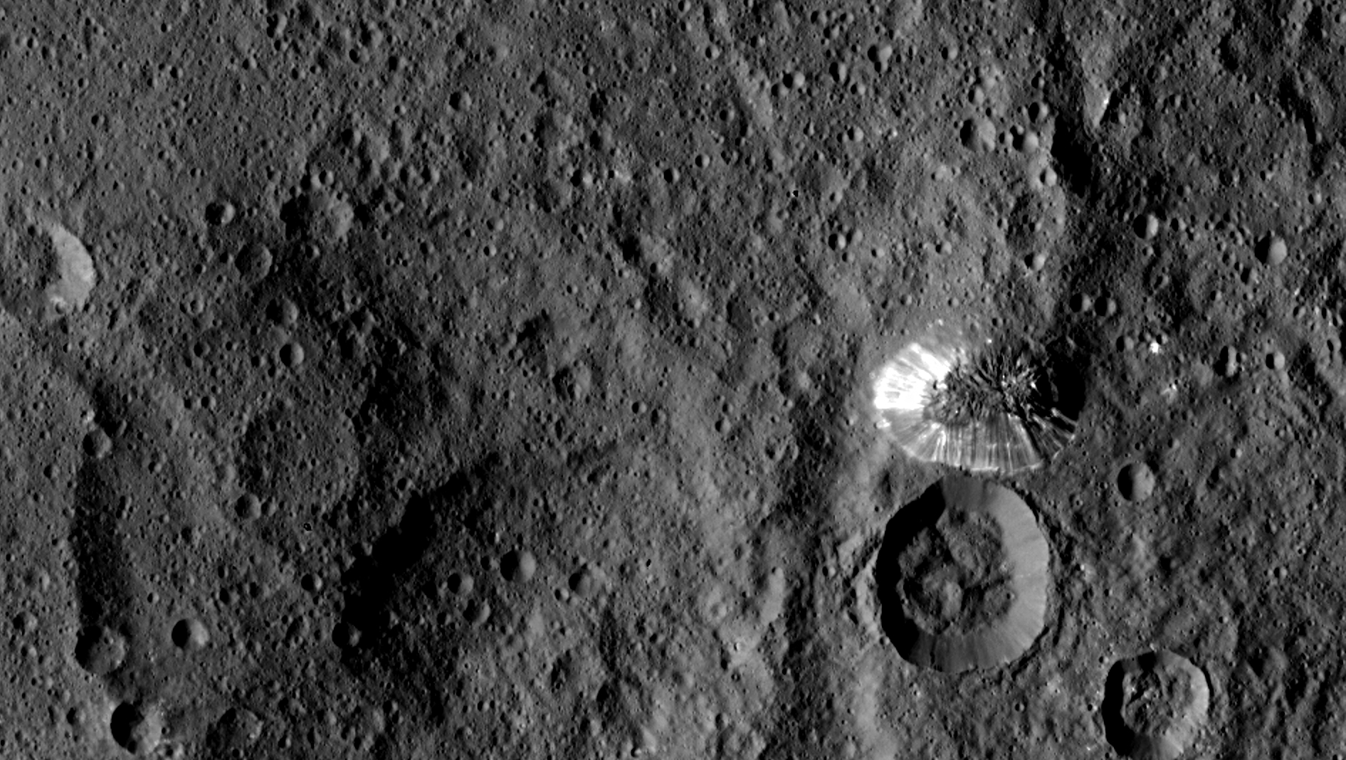 Ceres' Lonely Mountain