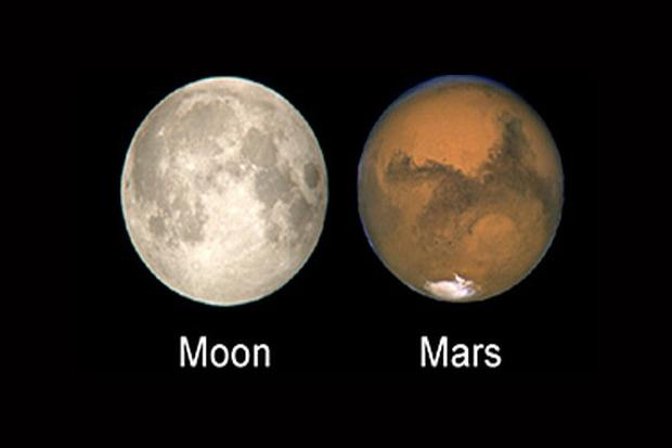 Marte es tan grande como la luna.