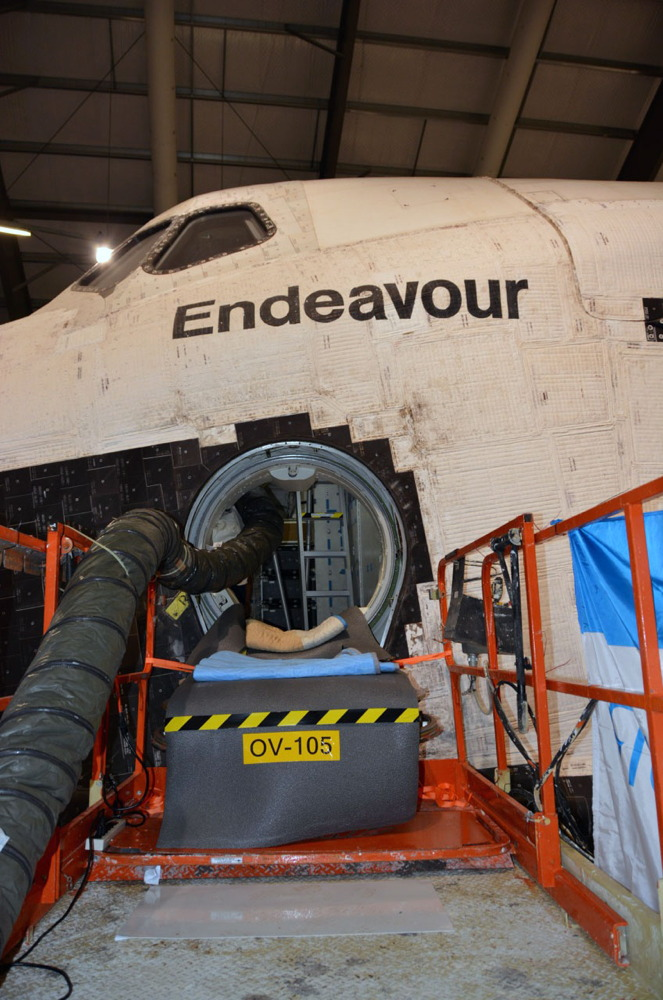 Shuttle Endeavour's Water Tanks