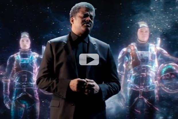 'The Martian': 'Future' Neil Tyson Gets 'Cosmic' For Film Promo | Video