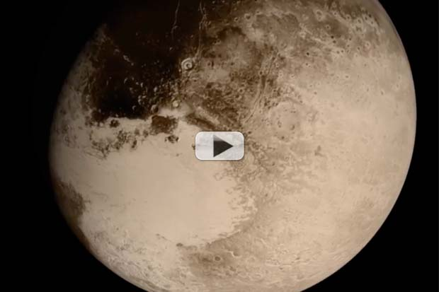 Realistic Pluto Fly-By Animation Created From Photos, Trajectory Data | Video